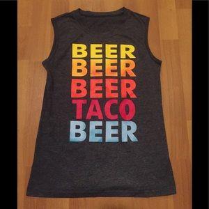 Tops - Tacos and beer ladies tank top